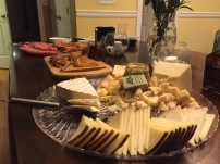 Aged cheese platter