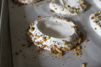 Pistachio and poppy seed pavlova